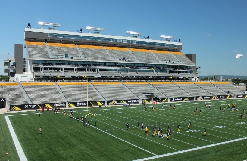 The Hamilton Soccer Stadium, built for the Pan Am Games in the Greater Toronto Area, achieved a Silver rating under the LEED Canada-NC rating system.